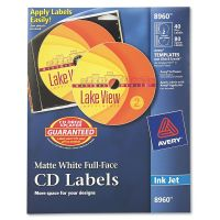 Avery Inkjet Full-Face CD Labels, Matte White, 40/Pack AVE8960