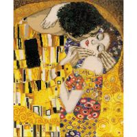 The Kiss/G. Klimt's Painting Counted Cross Stitch Kit NOTM105597