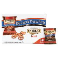 Snyder's Mini Pretzels, Original, 0.9 oz Bags, 60/Carton SNY827582