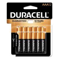 Duracell CopperTop Alkaline Batteries, AAA, 12/PK DURMN24RT12Z