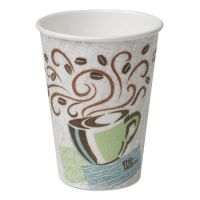 Dixie Hot Cups, Paper, 12oz, Coffee Dreams Design, 50/Pack DXE5342CDPK