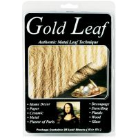 "Mona Lisa Metal Leaf Sheets 5.5""X5.5"" 25/Pkg NOTM280176"