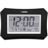 Lorell LCD Wall/Alarm Clock LLR60998