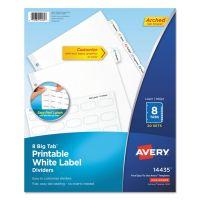 Avery Big Tab White Label Tab Dividers, 8-Tab, White Tab, Letter, 20 Sets AVE14435
