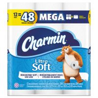 Charmin Ultra Soft Toilet Paper, 2-Ply, White, 4 x 3.92 Sheet, 284 Sheets/Roll, 12 Rolls/Pack PGC61925PK