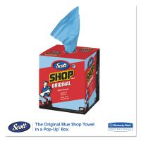Scott Shop Towels, POP-UP Box, Blue, 10 x 13, 200/Box, 8 Boxes/Carton KCC75190
