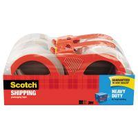 "Scotch 3850 Heavy-Duty Packaging Tape, 1.88"" x 54.6yds, 3"" Core, Clear, 4/Pack MMM38504RD"