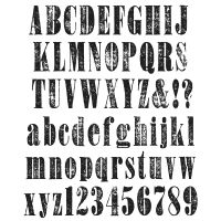 "Tim Holtz Cling Rubber Stamp Set 7""X8.5"" NOTM036451"