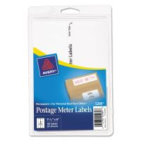Avery Postage Meter Labels for Personal Post Office E700, 1 25/32 x 6, White, 60/Pack AVE05289