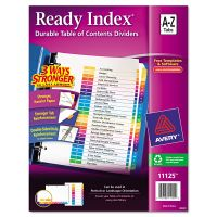 Avery Ready Index Customizable Table of Contents Multicolor Dividers, 26-Tab, Letter AVE11125