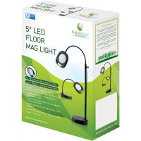 "Naturalight LED 5"" Floor Magnifying Light NOTM088199"