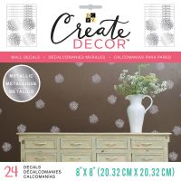"""DCWV Create Decor Removable Wall Decals 8""""X8"""" NOTM539776"""