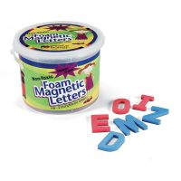 """(Uppercase Letters) Shape - Magnetic - Non-toxic - Letter Height: 2"""" - Blue Consonants - Red Vowels - Assorted - Foam - 108 / Set PAC27560"""