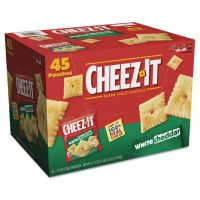 Sunshine Cheez-it Crackers, 1.5 oz Bag, White Cheddar, 45/Carton KEB10892