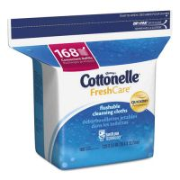 Cottonelle Fresh Care Flushable Cleansing Cloths, White, 5 x 7 1/4, 168/Pack KCC10358EA