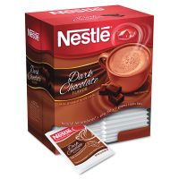 Nestlé Hot Cocoa Mix, Dark Chocolate, 0.71 oz, 50/Box NES70060