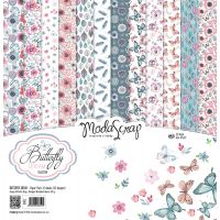 "Elizabeth Craft ModaScrap Paper Pack 12""X12"" 12/Pkg NOTM098336"