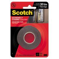 "Scotch Extreme Mounting Tape, 1"" x 60"", Black MMM414P"