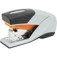Swingline Optima 25 Reduced Effort Compact Stapler, Half Strip, 25-Sheet Cap., Gray/Orange SWI66412