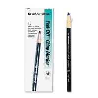 Sharpie Peel-Off China Markers, Blue, Dozen SAN2072