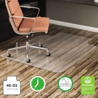 deflecto EconoMat Anytime Use Chair Mat for Hard Floor, 45 x 53 w/Lip, Clear DEFCM21232