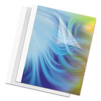 Fellowes Thermal Binding System Covers, 60-Sheet Cap, 11 x 8 1/2, Clear/White, 10/Pack FEL52222