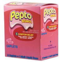 Pepto-Bismol Tablets, Two-Pack, 25 Packs/Box PFYBXPB25