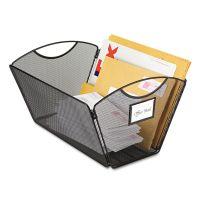 Safco Onyx Mesh Desktop Tub File Storage Box, Legal, Black SAF2163BL