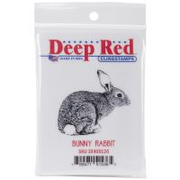 """Deep Red Cling Stamp 2""""X2"""" NOTM411590"""
