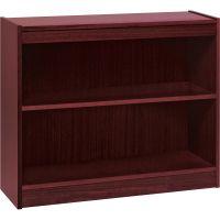 Lorell Panel End 2-Shelf Hardwood Veneer Bookcase LLR60070
