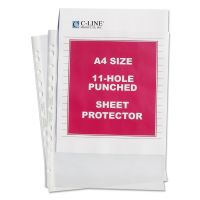 C-Line Standard Weight Poly Sheet Protector, A4, Standard Gauge, Clear, 50/BX CLI08037
