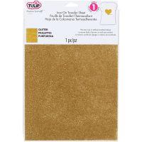 "Tulip Iron On Glitter Transfer Sheet 8.5""X11"" 1/Pkg NOTM308567"