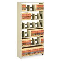 Tennsco Snap-Together Steel Six-Shelf Closed Starter Set, 36w x 12d x 76h, Sand TNN1276PCSD
