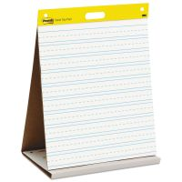 Post-it Easel Pads Self Stick Tabletop Easel Ruled Pad, Command Strips, 20 x 23, White, 20 Shts/Pad MMM563PRL
