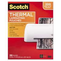Scotch Letter Size Thermal Laminating Pouches, 3 mil, 11 2/5 x 8 9/10, 200/Pack MMMTP3854200
