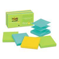 Post-it Pop-up Notes Original Pop-up Refill, 3 x 3, Assorted Jaipur Colors, 100-Sheet, 12/Pack MMMR33012AU