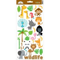 """At The Zoo Cardstock Stickers 6""""X13"""" NOTM486070"""
