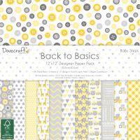 "Dovecraft Back To Basics Paper Pack 12""X12"" 36/Pkg NOTM091803"