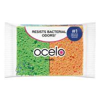 ocelo O-Cel-O Sponge w/3M Stayfresh Technology, 4 7/10 x 3 x 3/5, 4/Pack MMM7274FD