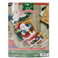 Santa's Visit Stocking Felt Applique Kit NOTM051989