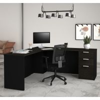 Bestar Pro-Concept Plus Corner Desk in Deep Grey & Black BESBES11089932