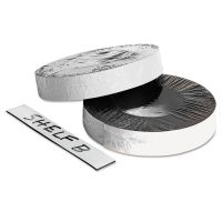 "ZEUS Dry Erase Magnetic Label Tape, White,1"" x 50 ft. BAU66151"