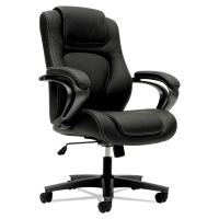 HON VL402 Series Executive High-Back Chair, Black Vinyl BSXVL402EN11