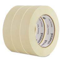 "Universal General Purpose Masking Tape, 24mm x 54.8m, 3"" Core, 3/Pack UNV51301"