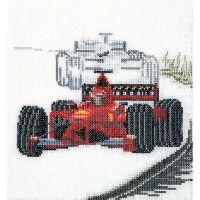 Motor Racing On Aida Counted Cross Stitch Kit NOTM298954