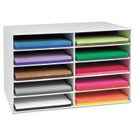 Pacon Classroom Construction Paper Storage, 10 Slots, 26 7/8 x 16 7/8 x 18 1/2 PAC001316