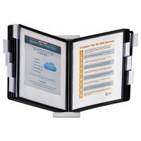 Durable InstaView Expandable Desktop Reference System, 10 Panels, Black Borders DBL561201