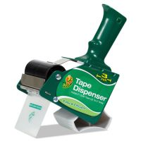 "Duck Extra-Wide Packaging Tape Dispenser, 3"" Core, Green DUC1064012"