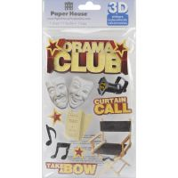"""Paper House 3D Stickers 4.5""""x8.5"""" NOTM222466"""