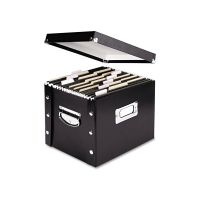 Snap-N-Store Snap N Store Storage Box, Letter, 11 3/4w x 9 3/4d x 9 1/2h, Black IDESNS01533